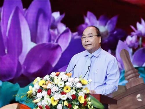 Thủ tướng Nguyễn Xuân Phúc phát biểu tại chương trình giao lưu.